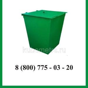 Бак металлический для мусора (ТБО) с крышкой 0, 75м3 - 1, 5 мм